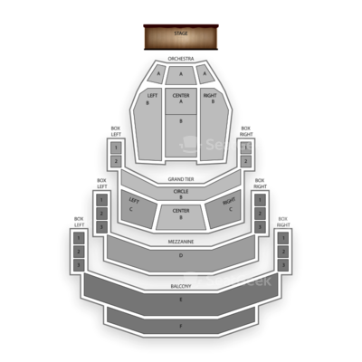 Belk Theatre seating chart Annie