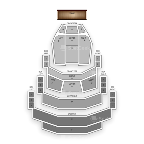 Belk Theatre seating chart The Phantom of the Opera