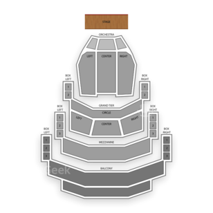 Belk Theater Seating Chart Classical Orchestral Instrumental