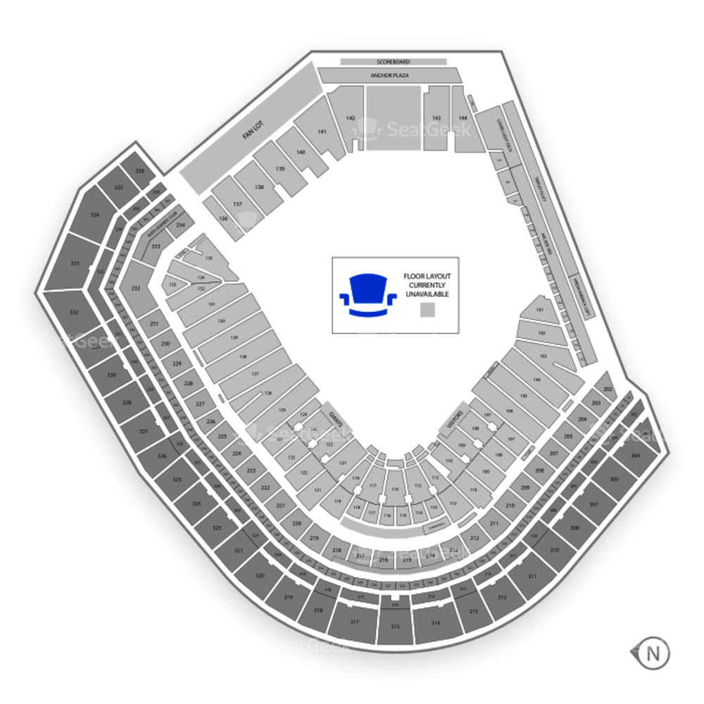 Oracle Park Seating Chart NCAA Football & Map | SeatGeek