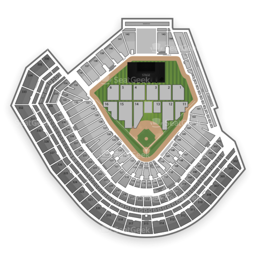 AT&T Park Concert Seating Chart & Interactive Map | SeatGeek