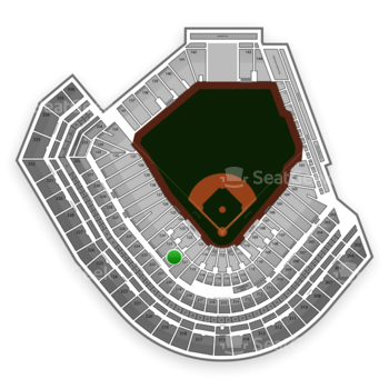 San Francisco Giants at AT&T Park Section 122 View