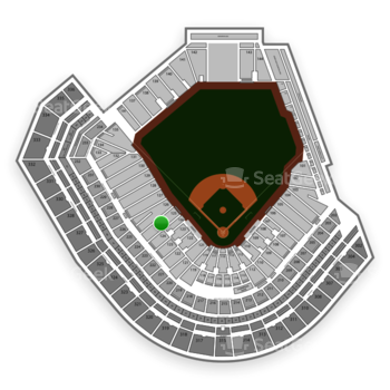 San Francisco Giants at AT&T Park Section 125 View