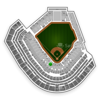 San Francisco Giants at AT&T Park Section 121 View