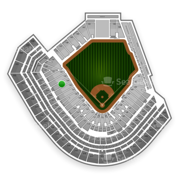 San Francisco Giants at AT&T Park Section 129 View
