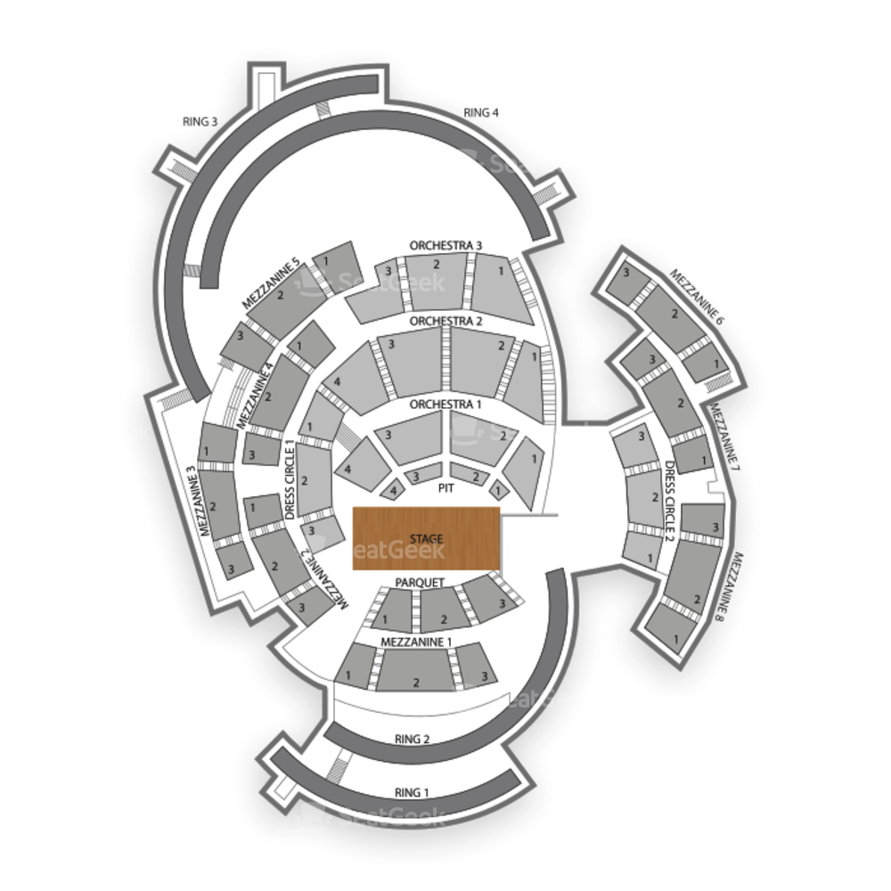 Boettcher Concert Hall Seating Chart Theater