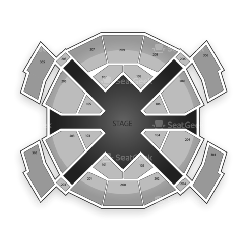 Love Theatre at The Mirage seating chart Cirque du Soleil Love