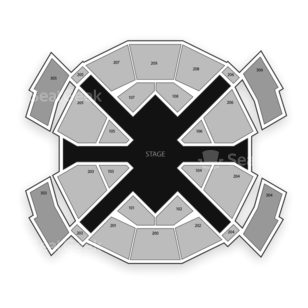 Love Theatre at The Mirage Seating Chart Cirque Du Soleil