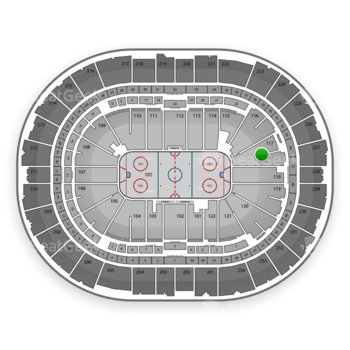 Pittsburgh Penguins at Consol Energy Center Section 117 View