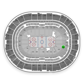 Pittsburgh Penguins at Consol Energy Center Section 119 View