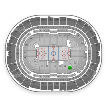 Pittsburgh Penguins at Consol Energy Center Section 121 View