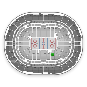 Pittsburgh Penguins at Consol Energy Center Section 122 View