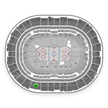 Pittsburgh Penguins at Consol Energy Center Section 205 View