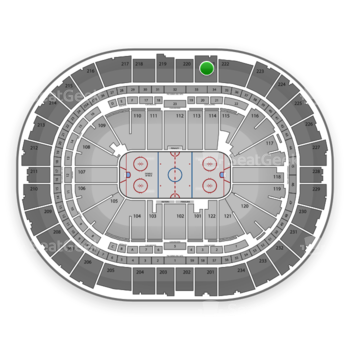 Pittsburgh Penguins at Consol Energy Center Section 221 View