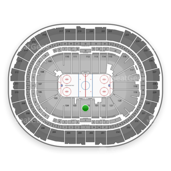 Pittsburgh Penguins at PPG Paints Arena Section 102 View