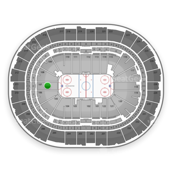 Pittsburgh Penguins at PPG Paints Arena Section 107 View