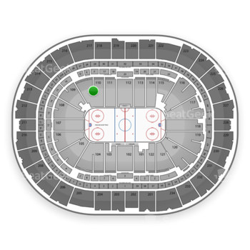 Pittsburgh Penguins at PPG Paints Arena Section 110 View