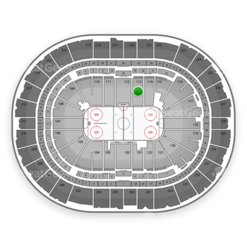 Pittsburgh Penguins at PPG Paints Arena Section 113 View