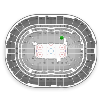 Pittsburgh Penguins at PPG Paints Arena Section 114 View