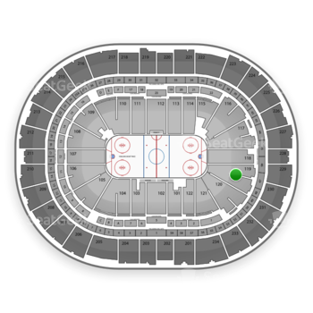 Pittsburgh Penguins at PPG Paints Arena Section 119 View