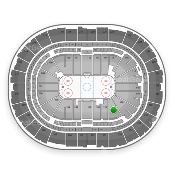 Pittsburgh Penguins at PPG Paints Arena Section 121 View