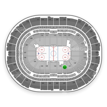 Pittsburgh Penguins at PPG Paints Arena Section 122 View