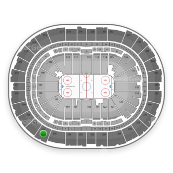 Pittsburgh Penguins at PPG Paints Arena Section 206 View