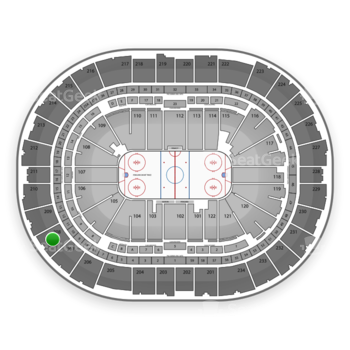 Pittsburgh Penguins at PPG Paints Arena Section 208 View