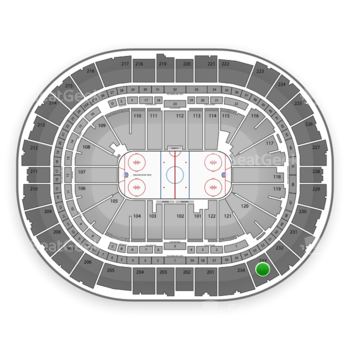 Pittsburgh Penguins at PPG Paints Arena Section 233 View