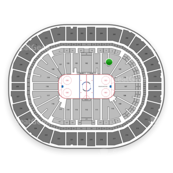 Pittsburgh Penguins at PPG Paints Arena Section 104 View