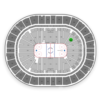 Pittsburgh Penguins at PPG Paints Arena Section 105 View