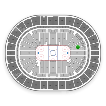 Pittsburgh Penguins at PPG Paints Arena Section 106 View