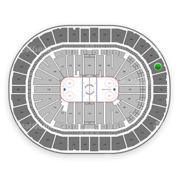 Pittsburgh Penguins at PPG Paints Arena Section 209 View