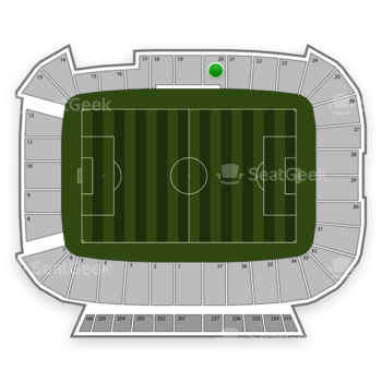 Real Salt Lake at Rio Tinto Stadium Section 20 View