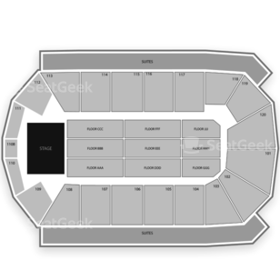 1st Bank Center Seating Chart Comedy