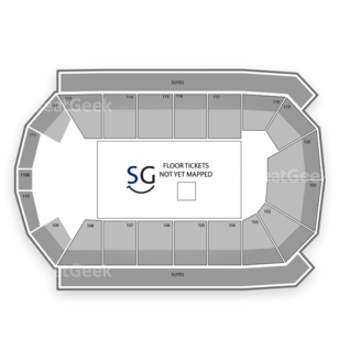 1stBank Center Seating Chart Comedy