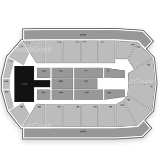 1STBANK Center Seating Chart Family