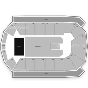 1st Bank Center Seating Chart Concert