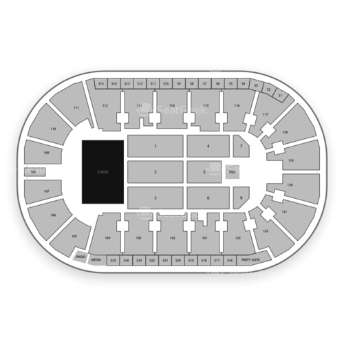 Payne Arena Seating Chart Concert