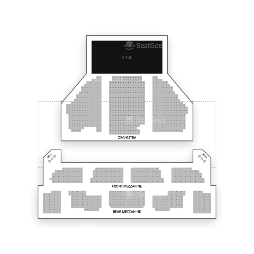 Imperial theatre seating chart map seatgeek