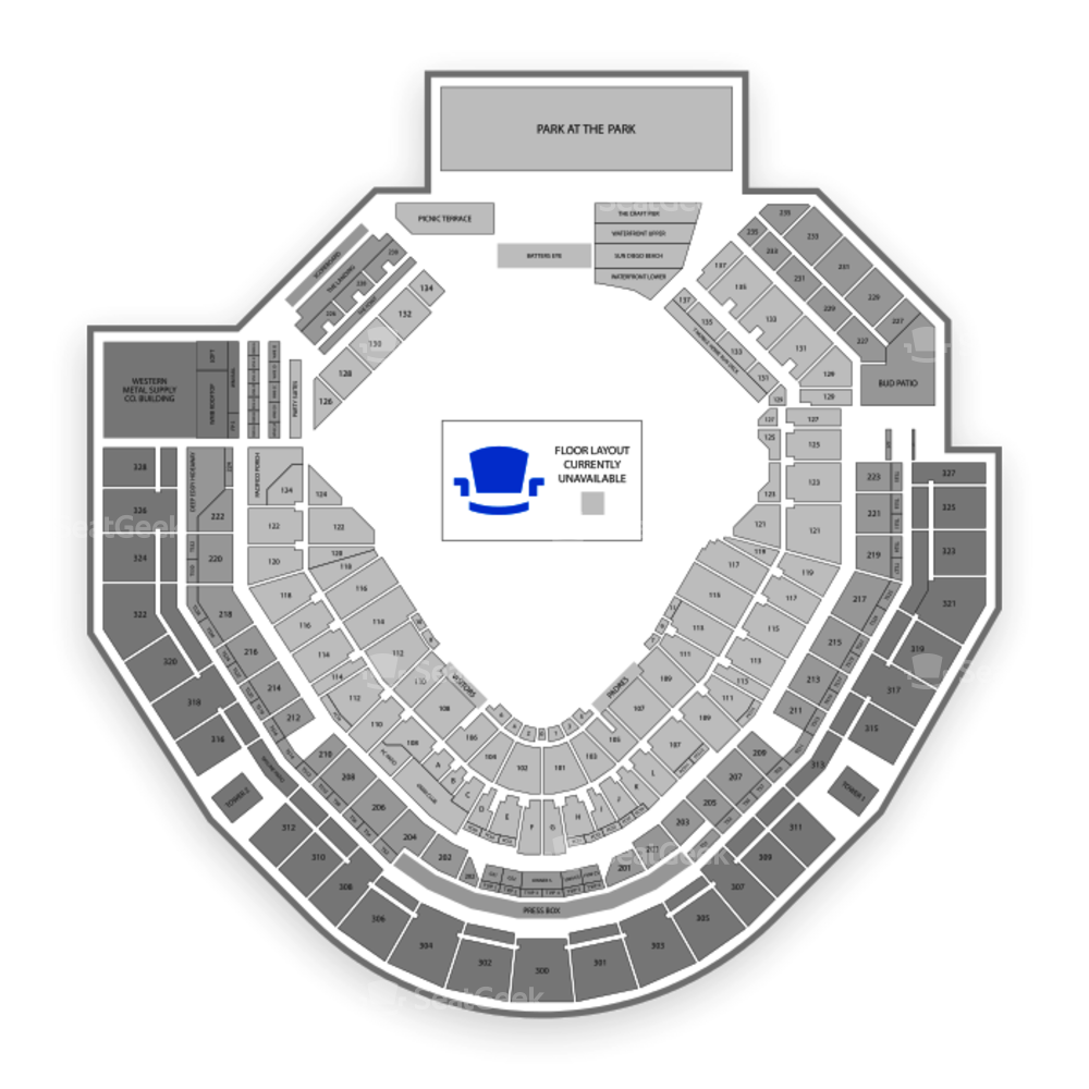 Petco Park Seating Chart Parking