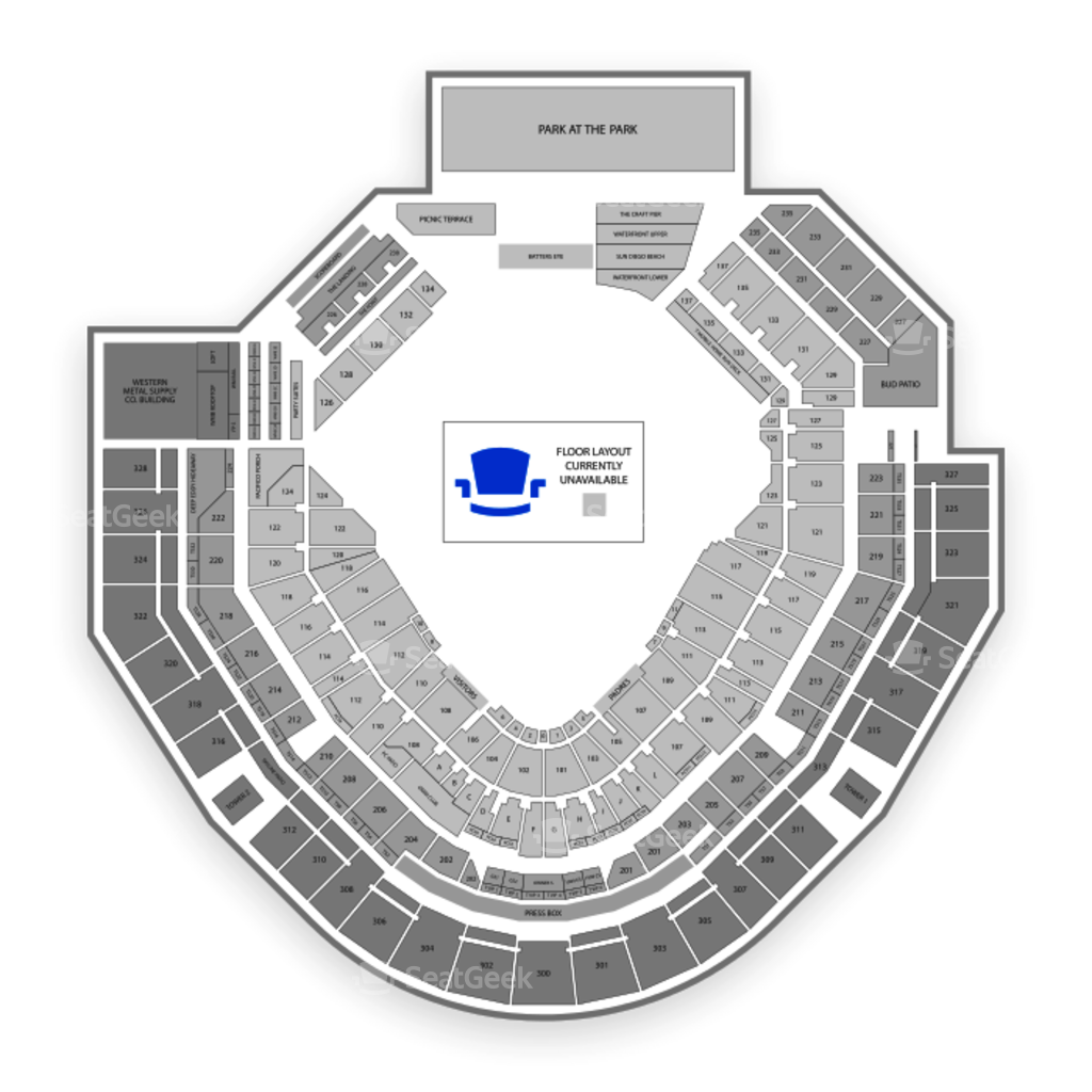 petco park seating chart interactive seat map seatgeek petco park seating chart concert
