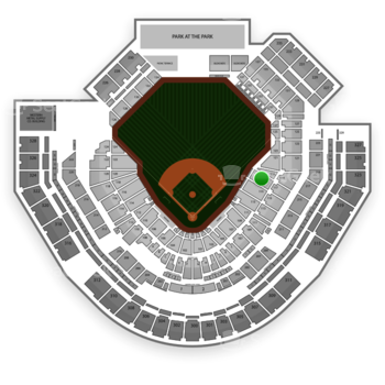 San Diego Padres at Petco Park Section 117 View