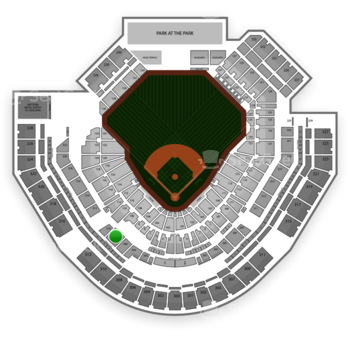 San Diego Padres at Petco Park Section 208 View