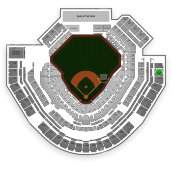 San Diego Padres at Petco Park Section 325 View