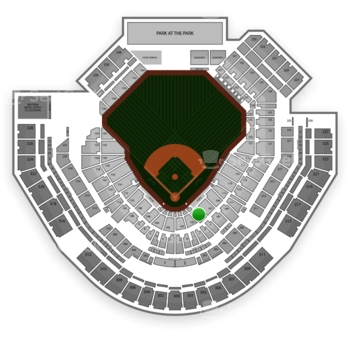 San Diego Padres at Petco Park Section 105 View