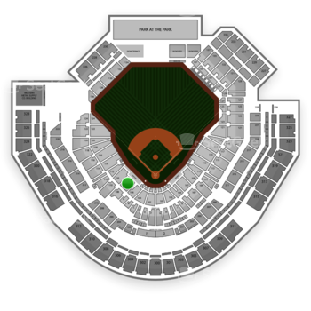 San Diego Padres at Petco Park Section 108 View