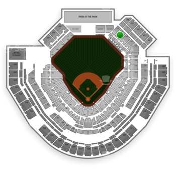 San Diego Padres at Petco Park Section 135 View