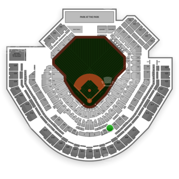 San Diego Padres at Petco Park Section 203 View