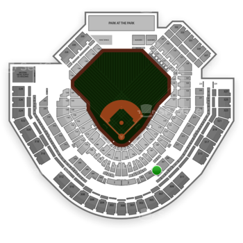 San Diego Padres at Petco Park Section 205 View